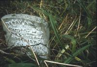 Sarah Ann Secrist's grave marker at Mentzer Cemetery at Snow Hill Cloister
