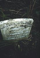 Solomon Sechrist's grave marker at Mentzer Cemetery at Snow Hill Cloister