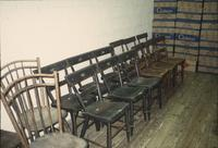 Chairs in Horst Auction House at Ephrata, Pa.