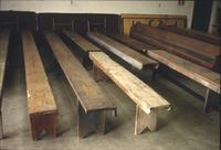 Benches in Horst Auction House at Ephrata, Pa.