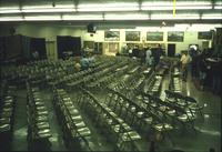 People and chairs in Horst Auction House at Ephrata, Pa.