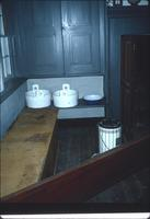 Communion foot-washing basins in dining room at Snow Hill Cloister