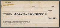 Check payable to the Amana Society