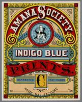 Amana Society indigo blue prints