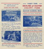 Visit the House of David Colony - Park, Benton Harbor, Mich.