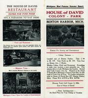 Michigans most famous summer resort. House of David Colony - Park, Benton Harbor, Mich.