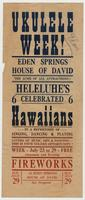 Ukulele Week! Eden Springs House of David [front]