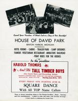 Plan now to enjoy the square dances at the House of David Park, Benton Harbor, Mich. [back]