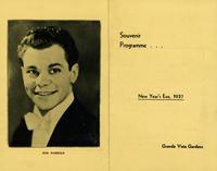 Souvenir programme New Year's Eve, 1937 Grande Vista Gardens [front]