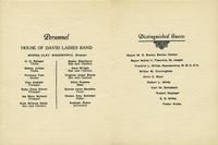 House of David Musicians Banquet [back]