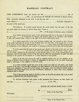 Baseball contract [back]