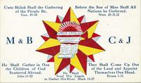 Ticket with House of David ensign [back]