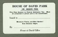 House of David Park 195 season pass [front]