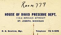 House of David Preserve Dept., 1104 Broad Street, St. Joseph, Michigan [front]