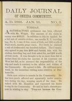 Daily journal of Oneida Community, [vol. 01], no. 003 (January 16, 1866)