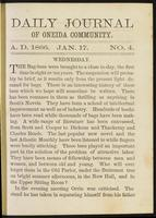 Daily journal of Oneida Community, [vol. 01], no. 004 (January 17, 1866)