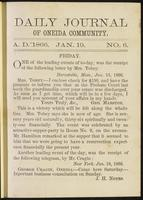 Daily journal of Oneida Community, [vol. 01], no. 006 (January 19, 1866)