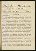 Daily journal of Oneida Community, [vol. 01], no. 008 (January 23, 1866)