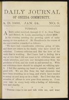 Daily journal of Oneida Community, [vol. 01], no. 009 (January 24, 1866)