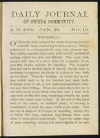Daily journal of Oneida Community, [vol. 01], no. 010 (January 25, 1866)
