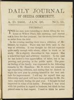 Daily journal of Oneida Community, [vol. 01], no. 011 (January 26, 1866)