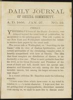 Daily journal of Oneida Community, [vol. 01], no. 012 (January 27, 1866)