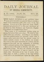 Daily journal of Oneida Community, [vol. 01], no. 015 (January 31, 1866)