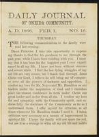 Daily journal of Oneida Community, [vol. 01], no. 016 (February 1, 1866)