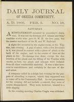 Daily journal of Oneida Community, [vol. 01], no. 018 (February 3, 1866)