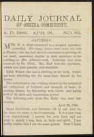 Daily journal of Oneida Community, [vol. 01], no. 083 (April 21, 1866)