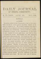 Daily journal of Oneida Community, [vol. 01], no. 084 (April 23, 1866)