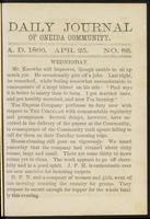 Daily journal of Oneida Community, [vol. 01], no. 086 (April 25, 1866)