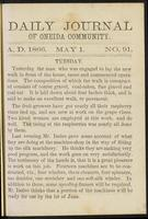 Daily journal of Oneida Community, [vol. 01], no. 091 (May 1, 1866)