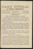Daily journal of Oneida Community, [vol. 01], no. 092 (May 2, 1866)