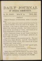 Daily journal of Oneida Community, [vol. 01], no. 094 (May 4, 1866)
