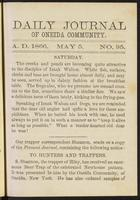 Daily journal of Oneida Community, [vol. 01], no. 095 (May 5, 1866)
