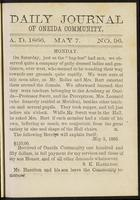 Daily journal of Oneida Community, [vol. 01], no. 096 (May 7, 1866)