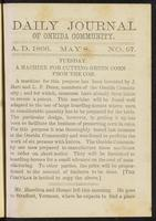 Daily journal of Oneida Community, [vol. 01], no. 097 (May 8, 1866)