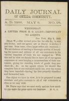Daily journal of Oneida Community, [vol. 01], no. 098 (May 9, 1866)
