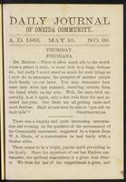 Daily journal of Oneida Community, [vol. 01], no. 099 (May 10, 1866)
