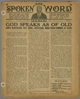 Spoken word, vol. 01, no. 01 (October 20, 1934)