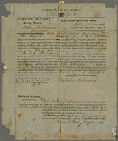 Certificate bestowing United States Citizenship to John Johnson