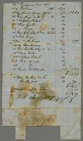 Invoice of items purchased from Tucker & Mansfield