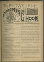 Plowshare and pruning hook: indicator of commercial equation, vol. 01, no. 04 (June 13, 1891)