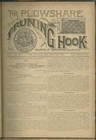 Plowshare and pruning hook: indicator of commercial equation, vol. 01, no. 05 (June 20, 1891)