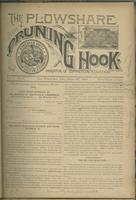 Plowshare and pruning hook: indicator of commercial equation, vol. 01, no. 06 (June 17, 1891)