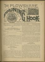 Plowshare and pruning hook: indicator of commercial equation, vol. 01, no. 07 (July 4, 1891)