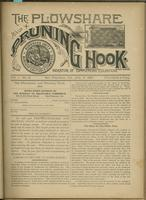 Plowshare and pruning hook: indicator of commercial equation, vol. 01, no. 08 (July 11, 1891)
