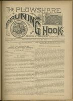 Plowshare and pruning hook: indicator of commercial equation, vol. 01, no. 10 (July 25, 1891)