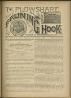 Plowshare and pruning hook: indicator of commercial equation, vol. 01, no. 11 (August 1, 1891)